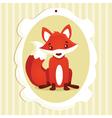 Fox Frame vector image