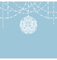 lace bauble decorations vector image