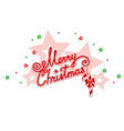 merry christmas with an openwork design vector image