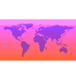 Pink World Map vector image
