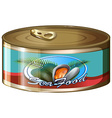 Seafood in aluminum can vector image