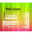transparent web banners vector image