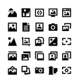 Photos and Images Icons 2 vector image