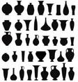 Vase set pot pottery vases flower home interior vector image
