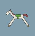 flat shading style icon kids rocking horse vector image