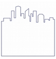 Abstract city background vector image