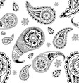 seamless abstract pattern with element henna styl vector image