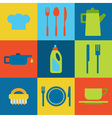 restaurant and kitchen icons vector image