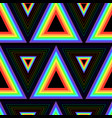 color rainbow triangles seamless pattern vector image