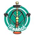 Color vintage hookah emblem vector image