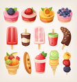 Fruit desserts vector image