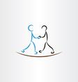 people handshake businessman icon vector image