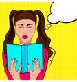 Por art woman reads a book vector image