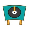 turntable vinyl record lp vector image
