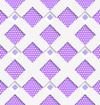 White geometrical ornament with white net and dots vector image
