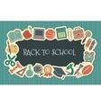 School vintage seamless background vector image