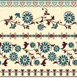 blue brown motiv decorative floral elements vector image vector image
