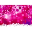 Elegant christmas pink with snowflakes EPS 8 vector image vector image