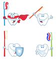 Cartoon teeth vector image vector image