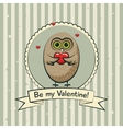 Valentines day greeting card with owls vector image