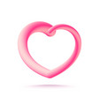 3d pink heart isolated on white background vector image