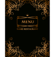 royal menu vector image vector image