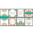 Set ornament of eight cards with decorative vector image