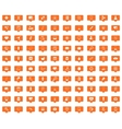 Medicine orange message icons set vector image
