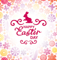 easter rabbit red vector image