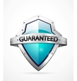 guarantee shield vector image vector image