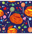 seamless halloween candy vector image vector image
