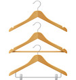 Clothes wooden hangers vector image