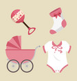 cute baby shower elements vector image