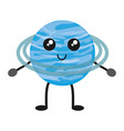 kawaii planets design vector image