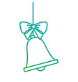 merry christmas bell bow hanging decoration vector image