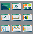 Professional business presentation design vector image