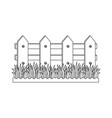 wooden fence garden vector image