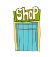 A shop stand on vector image vector image
