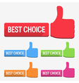 Best Choice Label Flat Design vector image vector image