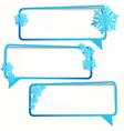 Winter stickers vector image vector image