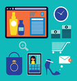 web shopping elements vector image vector image