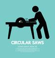 Circular Saws Graphic vector image