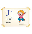 A letter J for jump vector image
