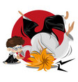 aikido male vector image