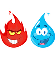 Flame And Water vector image vector image