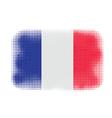 france flag halftone vector image vector image