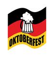 Beer mug on background of German flag Fflag is a vector image