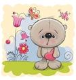 Cute Teddy With heart vector image