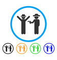 gentleman crime rounded icon vector image
