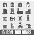 Icon Buildings On white background vector image